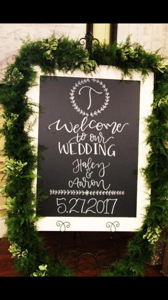 Elegant Welcome Sign